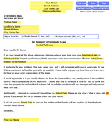 break lease letter landlord