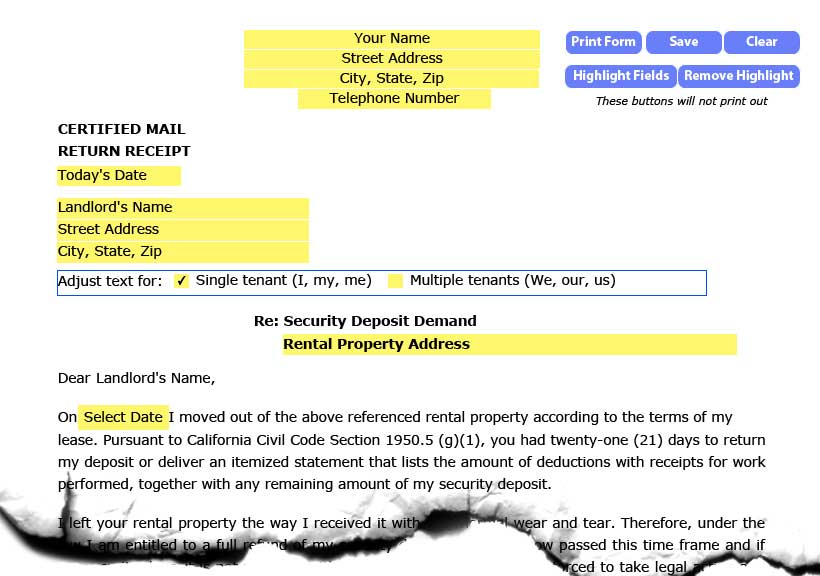 Security Deposit Demand Letter New York from www.hometitan.com