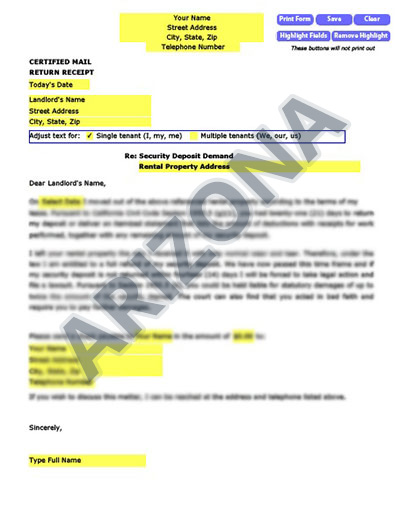 Arizona-security-deposit-demand-letter