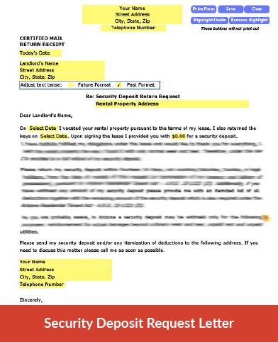 Itemized Security Deposit Deduction Letter from www.hometitan.com